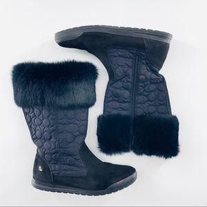 Authentic Coach 'Talen' Fur Winter Boots | 9